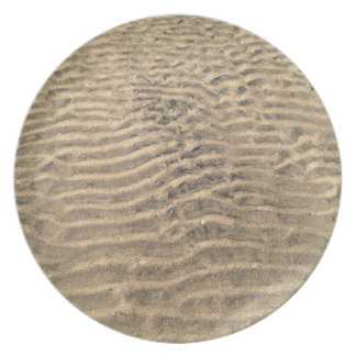 Placa natural del modelo de la arena platos para fiestas