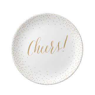 Placa/navidad y acción de gracias del confeti del platos de cerámica