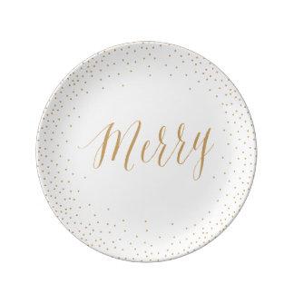 Placa/navidad y acción de gracias del confeti del plato de cerámica