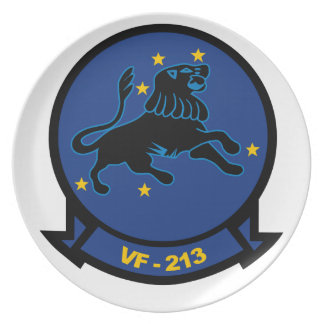 Placa negra de los leones VF-213 Plato