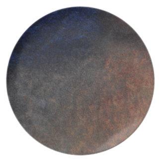 Placa orgánica de piedra rugosa del diseñador de l platos para fiestas