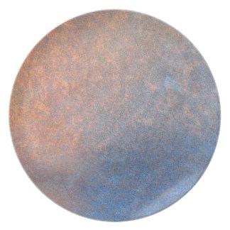 Placa orgánica de piedra rugosa ligera del diseñad plato para fiesta