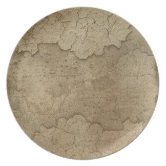 Placa orgánica del diseñador de las texturas de la plato