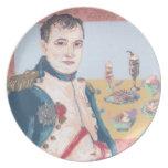 Placa original del arte del postre francés de Napo Platos