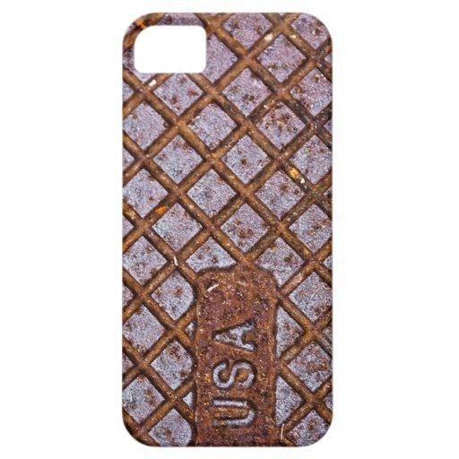 Placa oxidada de los E.E.U.U. iPhone 5 Carcasas