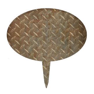 Placa oxidada del diamante decoración de tarta