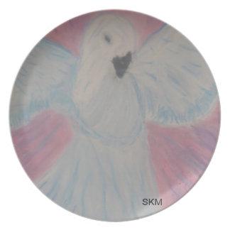 Placa pacífica de la paloma platos para fiestas