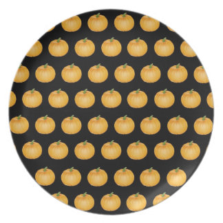 Placa - pastel de calabaza de la acción de gracias platos