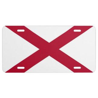 Placa patriótica con la bandera de Alabama Placa De Matrícula