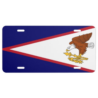 Placa patriótica con la bandera de American Samoa Placa De Matrícula