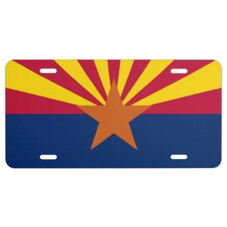 Placa patriótica con la bandera de Arizona Placa De Matrícula