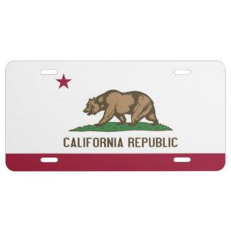 Placa patriótica con la bandera de California Placa De Matrícula