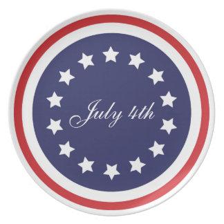 Placa patriótica del Día de la Independencia Platos Para Fiestas
