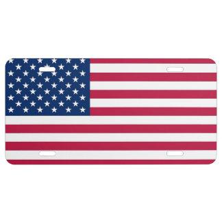 Placa patriótica, especial con la bandera de los placa de matrícula