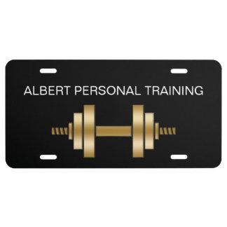Placa personal con clase del instructor placa de matrícula