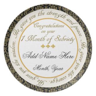 Placa personalizada de la exhibición de la sobried plato para fiesta