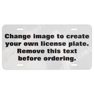 Placa personalizada de la foto. ¡Haga sus los prop Placa De Matrícula