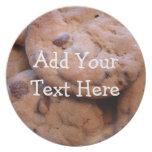 Placa personalizada de la galleta plato para fiesta