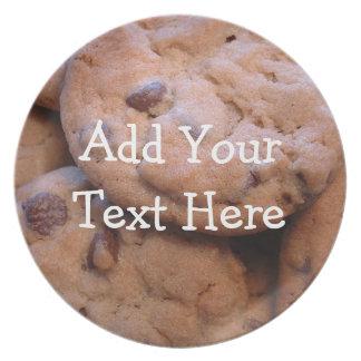 Placa personalizada de la galleta plato
