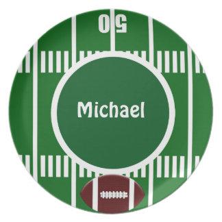 Placa personalizada de la línea de yardas del fútb platos