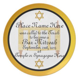 Placa personalizada de la placa del recuerdo de Mi Plato Para Fiesta