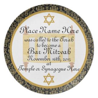Placa personalizada de la placa del recuerdo de Mi Plato De Cena