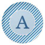 Placa personalizada de la raya azul