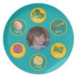 Placa personalizada de Seder (turquesa/hebreo) Platos De Comidas