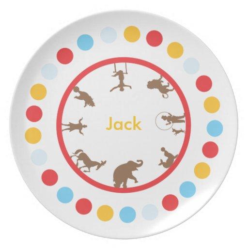 Placa personalizada del circo plato