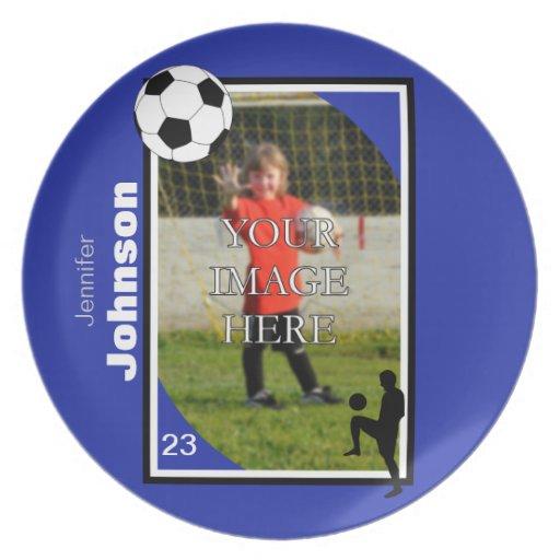 Placa personalizada del fútbol/del fútbol platos de comidas