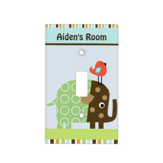 Placa personalizada del interruptor del elefante placa para interruptor