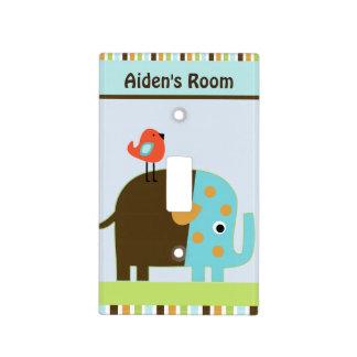 Placa personalizada del interruptor del elefante tapa para interruptor