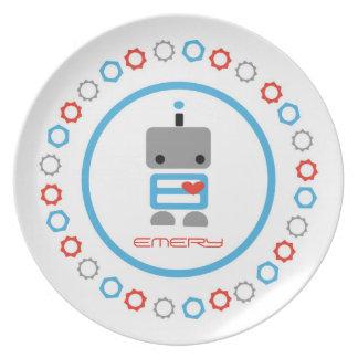 Placa personalizada del robot platos