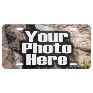 Placa personalizada personalizado de la foto placa de matrícula