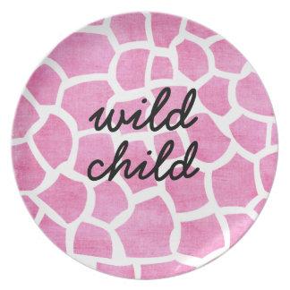 Placa personalizada personalizado rosado de la jir plato