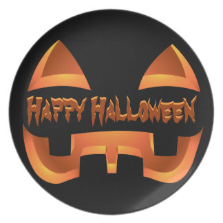 placa personalizada placa de Halloween de la Jack- Plato Para Fiesta