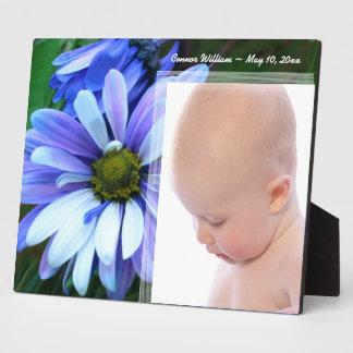 Placa personalizada placer de la foto del pétalo