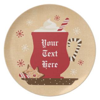 Placa personalizada taza del día de fiesta platos para fiestas