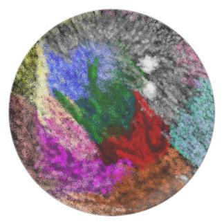 placa pintada aerosol colorido platos