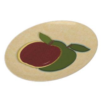 Placa pintada de las manzanas (final del enemigo) plato