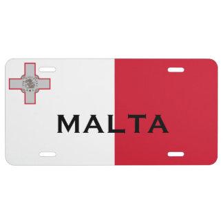 Placa Pjanċa Liċenzja Malta de Malta* Placa De Matrícula
