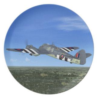Placa plana de Bristol Beaufighter Plato De Cena