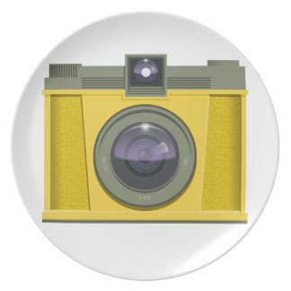 Placa plástica de la cámara platos de comidas