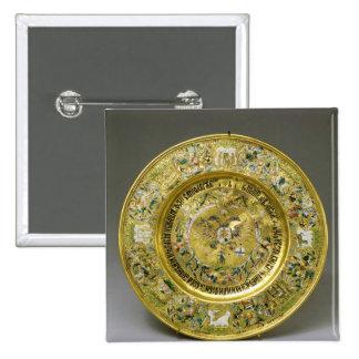 Placa poseída por el Tsar Alexei Mikhailovich Roma Pin Cuadrada 5 Cm