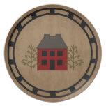 Placa primitiva de la casa plato de comida