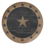 Placa primitiva de la estrella platos para fiestas