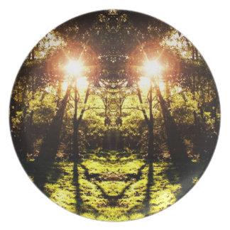 Placa psicodélica del bosque del DMT Plato