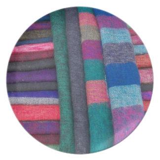 Placa pura de las lanas de los yacs platos