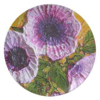 Placa púrpura de la correhuela platos para fiestas