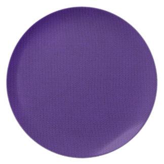 Placa púrpura de Stockinette Plato De Comida